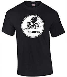 Patriot Apparel Seabees Navy Military Construction Men's T-Shirt Tee