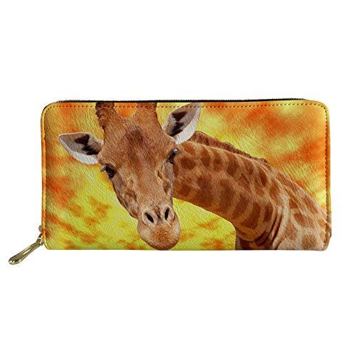 Giraffe Verde Donna Design Nopersonality Portafogli Cat Large U1vcqPW