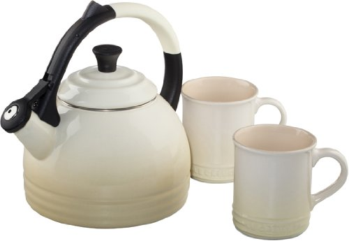 Le Creuset Enamel on Steel Kettle and Mug Gift Set, Dune by Le Creuset (Image #1)