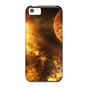 Ultra Slim Fit Hard Kristyjoy99 Cases Covers Specially Made For Iphone 5c- Fire Space