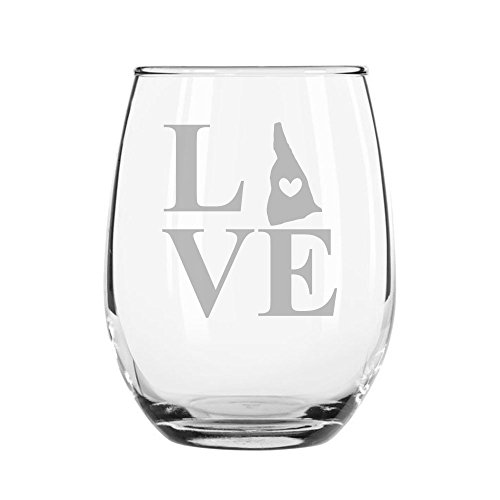 - Love State New Hampshire 15-ounce Stemless Wine Glass
