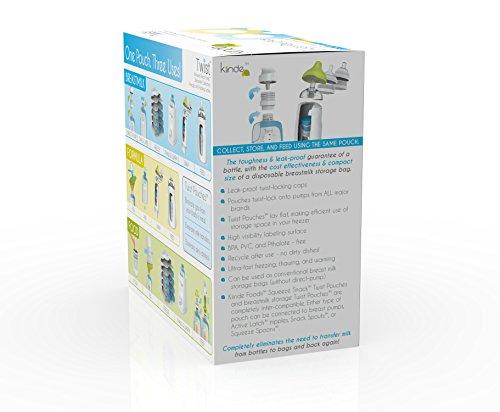 Twist Pouches - Direct-pump, Twist-cap Breastmilk Storage Bags (includes caps)