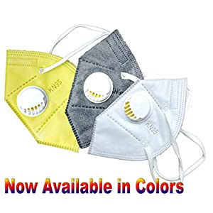 Cotson 5 Layers Antibacterial KN95 Safety Mask With Air Filter-(Pack of 3)