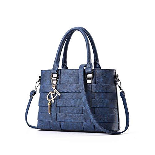 Lunga con a Donna Appeso Ornamento Blu Borse Tracolla mano Nappa Tisdaini qBf7Pf