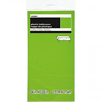 Neon Green Plastic Tablecloth, 108