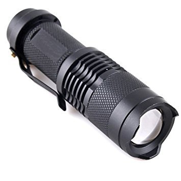 shlight 2000 Lumen (max) - 2 Free e-books - LIFETIME GUAR Pocket Size Super Bright High Power LED Zoomable Handheld Flashlight to 500 ft w/Adj Focus, Water & Shock Resistant (500 Flashlight)