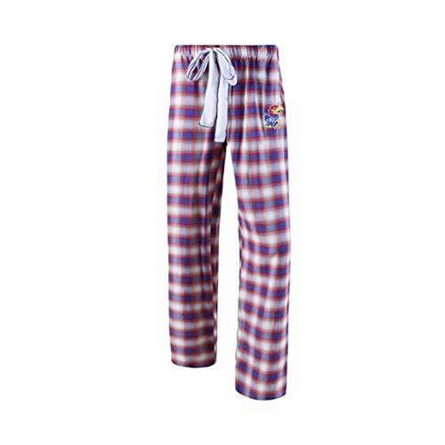 Kansas Jayhawks Womens Watch (College Concepts NCAA Womens-Forge -Flannel Paid Pajama Pants-Kansas Jayhawks-Large)
