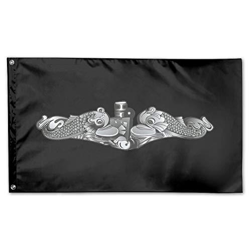 US Navy Submarine Insignia Garden Flag 3 X 5 Flag For House Decorative Banner
