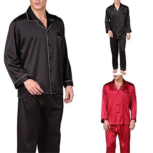 Men's Camicia Rope Accogliente Pigiama Spring Pajama Da Sleepwear Stile Raso Notte Uomini Red With Morbido Sexy Availcx E Lounge Silk Moderno Set dOPwUdqp1