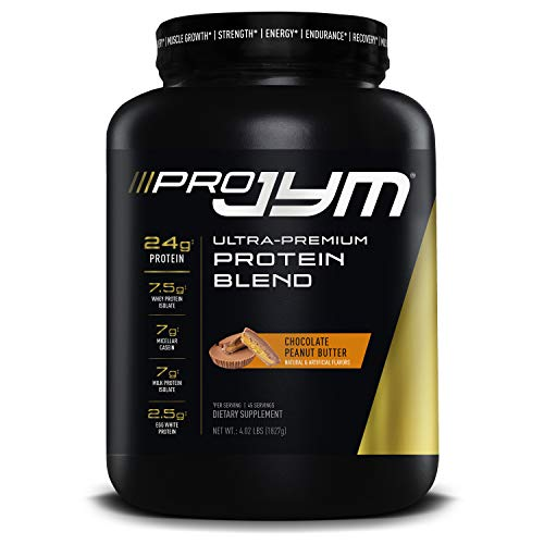 Pro JYM Protein Powder - Egg White, Milk, Whey Protein Isolates & Micellar Casein | JYM Supplement Science | Chocolate Peanut Butter Flavor, 4 lb