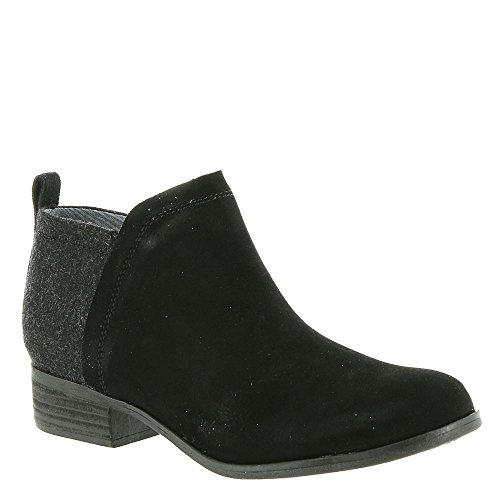 TOMS Womens Deia Pointed Toe Ankle Fashion Boots, Blacksuede/Wool, Size 9.0 ()