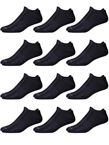 'Nautica Men\'s Soft Microfiber Low Cut Performance Socks (12 Pack), Black, Size Shoe Size: 6-12.5'