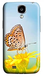 Samsung Galaxy S4 I9500 Hard Case - Yellow Butterfly Galaxy S4 Cases