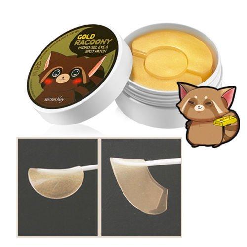 Secret Key - Gold Racoony - 60 x Goldene Collagen Augenpads und 30 x Anti Pickel Patches - Gesichtskur