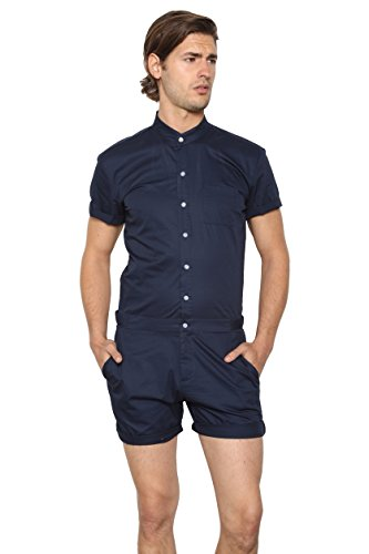 RomperJack Mens Romper by Stylish Male Jumpsuit w/Short Sleeve Short Pants