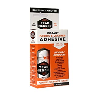 Tear Mender Instant Fabric and Leather Adhesive, 2 oz Bottle-Carded, TM-1