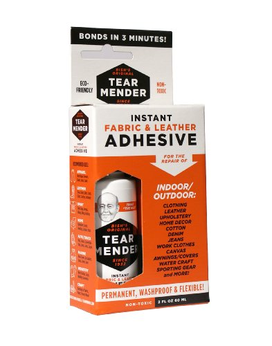 Tear Mender Instant Fabric and Leather Adhesive, 2 oz Bottle-Carded, - Kit Strap Fabric