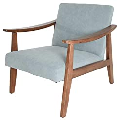 Living Room Zenvida Mid Century Modern Accent Armchair Solid Hardwood Upholstered modern accent chairs