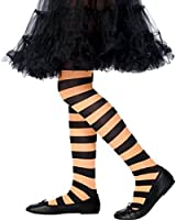 Child Orange/Black Stripe Tights