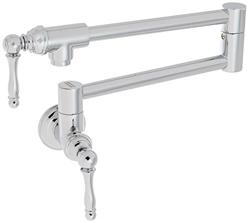 (Franke PF3300 Farm House Kitchen Faucet Series Wall-Mounted Pot Filler, Chrome)