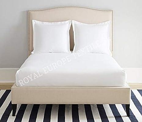 Royal Europe Textile - Sabana Bajera Ajustable 100% ALGODÓN Blanca ...