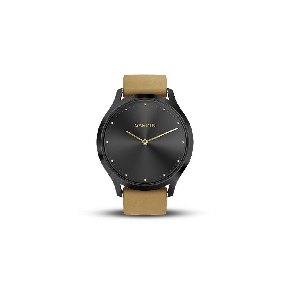 Garmin Vívomove HR, Hybrid Smartwatch pour Homme et Femme Premium Small/Medium Onyx Black w/Suede: Amazon.fr: High-tech