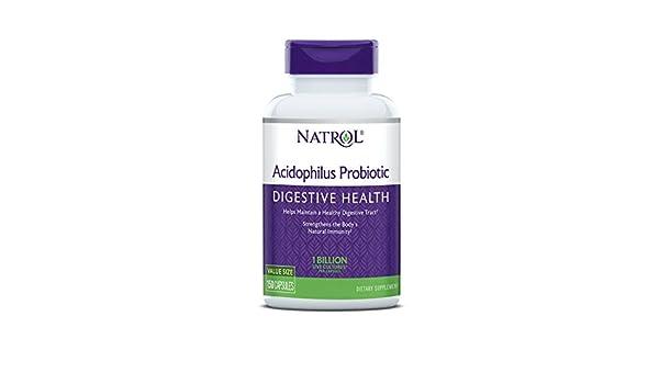 Natrol Acidophilus 100mg Capsules, 150-Count (Pack of 3) by Natrol: Amazon.es: Salud y cuidado personal