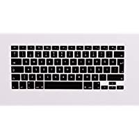 Mcstorey Macbook Pro Retina Air 13 15 17 Inç Q Klavye Koruyucu Kapağı Silikonlu Kılıf Tr Türkçe Klavye TPU, Siyah