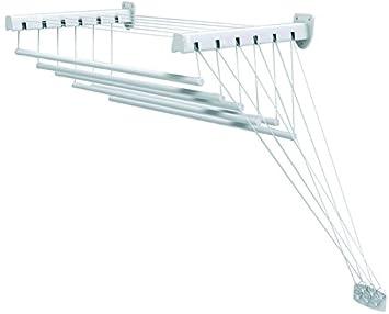 10,5 m Trockenl/änge Gimi Lift Extend W/äschetrockner f/ür Wand und Decke aus Stahl