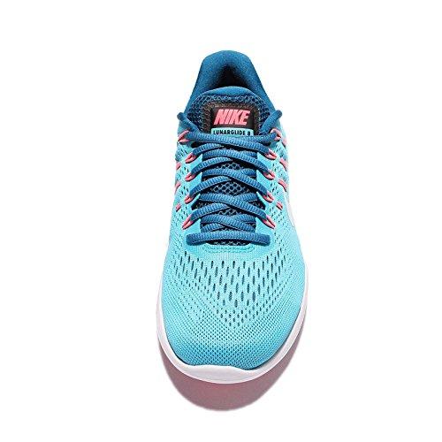 Running 8 Lunarglide Nike Chlorine Blue Glacier WMNS Women's Shoes Blue xqZOPS
