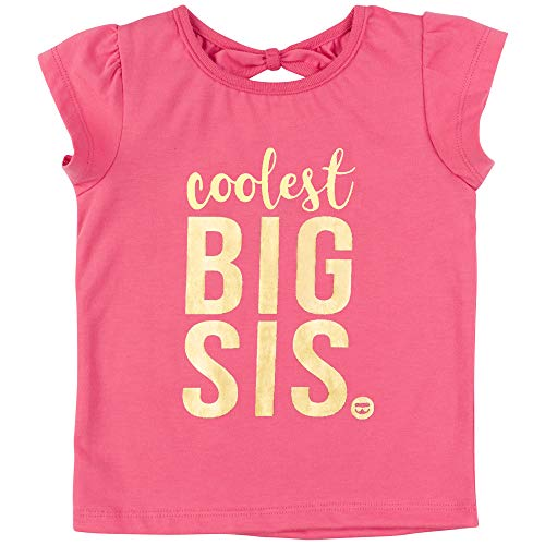 Fayfaire Big Sister Shirt for Toddler | Boutique Quality T-Shirt | Baby Girl Outfit | Coolest Big Sis | Pink 3T