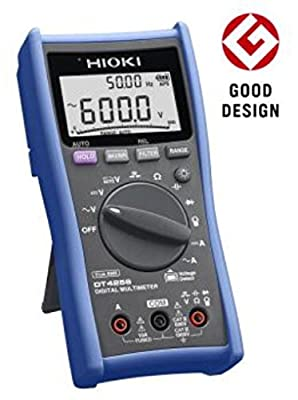 Hioki DT4256 True-RMS Digital Multimeter, 1000V AC/DC with 11 Functions and 10A Direct Input