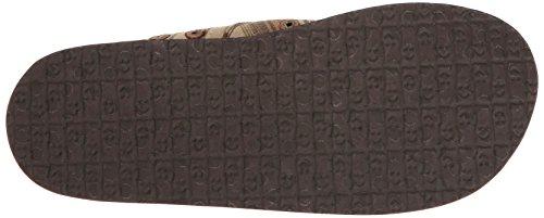 Denim Donny Zehentrenner Brown Vintage Sanuk Stripe Herren 5qXCwAxvA