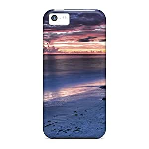 For Iphone 5c Tpu Phone Case Cover(dusk Beach)
