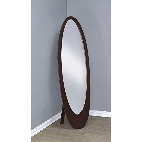 Coaster Cheval Mirror in Cappuccino