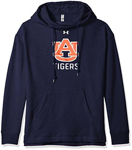 Tigers Fleece (Under Armour NCAA Auburn Tigers Women's Pull-Over Fleece Hoodie, Medium, Navy)