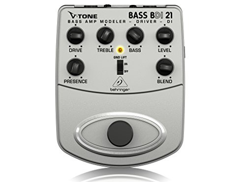 Behringer V-Tone Bass Driver DI BDI21 Bass Amp Modeler/Direct Recording Preamp/DI Box (Best Bass Amp For Recording)