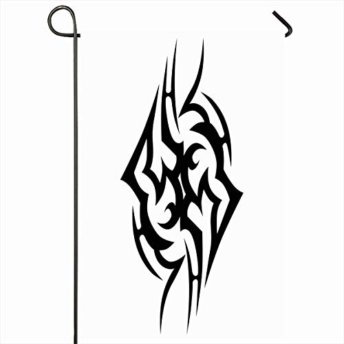 - Ahawoso Outdoor Garden Flag 12x18 Inches Girl Arm Tattoo Tribal Simple Abstract Armband Back Outline Body Celtic Chest Fantasy Fire Flame Forearm Design Idea Seasonal Double Sides House Yard Sign