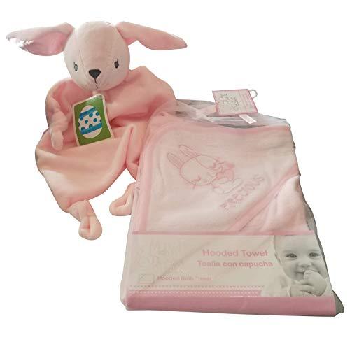 - Pink Bunny nunu and Hooded Bunny Towel for Girl Baby