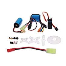 1Set 17g Servo + Kv4800 Brushless Motor + Speed Controller ESC for Rc Hobby Model Car Airplane Boat Aquacraft Edf Hsp Wltoys A959 A969 A979 k929(Mixed Color)