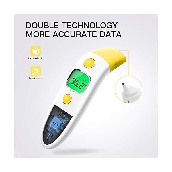CocoBear Termómetro Digital Bebé, Termómetro Infrarrojos, Frente y Oído, Bebé y Adultos 4 en 1 Termómetro Infrarrojo en… 8