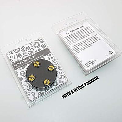 UATUO Universal Hexagon Shape for Buick Logo Emblem Car Wheel Tire Air Valve Cap Stem Dust Cover (Black Caps): Automotive