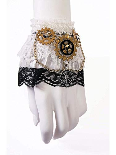 Forum Novelties, Victorian Steampunk Wrist Cuffs Costume Accessory, One Size
