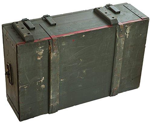 Caja de municiones AD81 de aproximadamente 83 x 53 x 30 cm caja de almacenamiento caja de munición de caja de madera caja de madera Diseño militar de la ...
