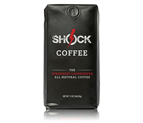Shock Coffee® The Strongest Caffeinated All Natural Coffee - 13oz Valve Bag, Ground Coffee