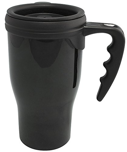 Travel Mug Plastic Security Container - Black or Green - 6.25 by Safes n' Safes