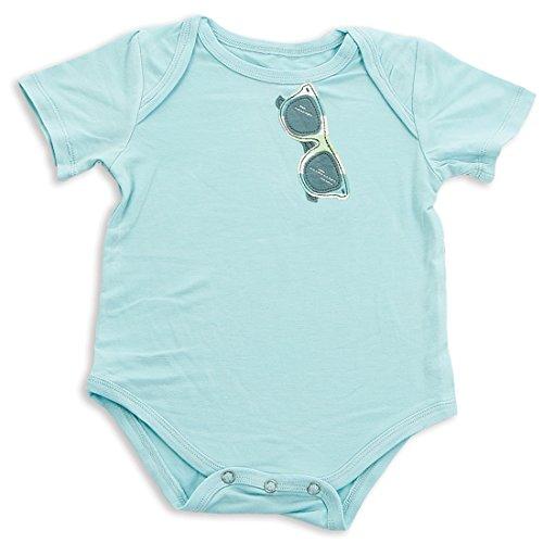 Silkberry Baby Bamboo Short Sleeve Onesie Jellybean Blue 3-6