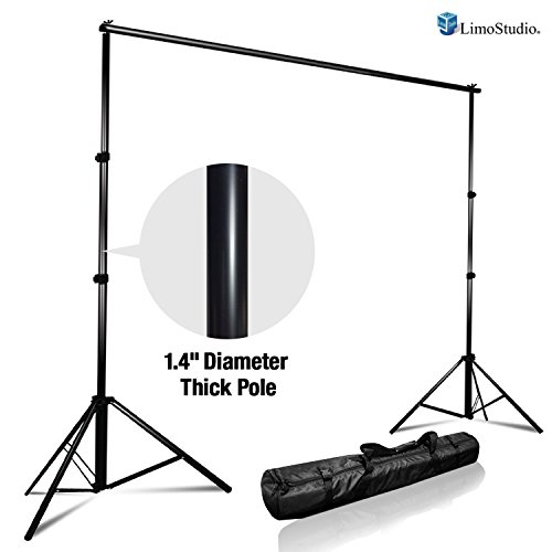 LimoStudio Photo Video Studio Adjustable Muslin Background Backdrop Support System Stand & Cross Bar, AGG1111 (Studio Muslin)