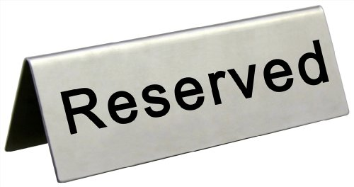 New Star Foodservice 26870 Stainless Steel Tent Sign (Reserved), 4