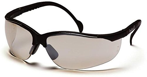 PYRAMEX SB1880S Venture ll S/G Black Frame Glasses w/In/Outdoor Mirror Lens (12 Pairs)